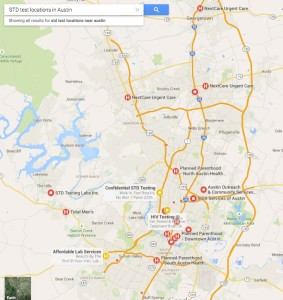 std test locations in austin